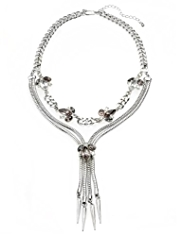 M&S Collection Spike & Gem Embellished Necklace