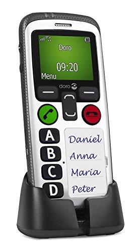 Doro sicuro 580 GSM telefono cellulare (4 tasti di chiamata rapida, timer di sicurezza) Nero-bianco