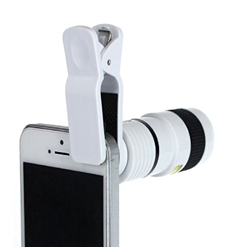 Toopoot(Tm) 8X Zoom Telescope Wide Angle Macro Fish Eye Lens Clip For Iphone 4 5G 5S 4S (White)