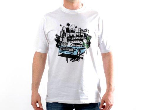 NARKOTIC Man T-shirt - nks1026_blanc_bleu_s
