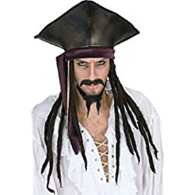Rubies Accessories Pirate Hat with Dread Locks