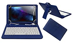 ACM PREMIUM USB KEYBOARD TABLET CASE HOLDER COVER FOR LENOVO TAB 2 A7-30 With Free MICRO USB OTG - BLUE