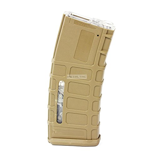 MetalTac Airsoft M4 Magazine Polymer-Mag High-Cap 300 Round (Tan) for M4 M16 Airsoft Guns, Fast loading Wheel, Ultra durable + MetalTac Warranty & Tech Support (M4 High Cap Magazine compare prices)