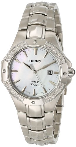 Seiko Coutura Mother-of-Pearl Dial Women's Watch #SUT123