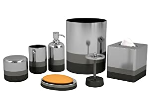 Nu Steel Triune Bathroom Accessories Set ,7-Piece
