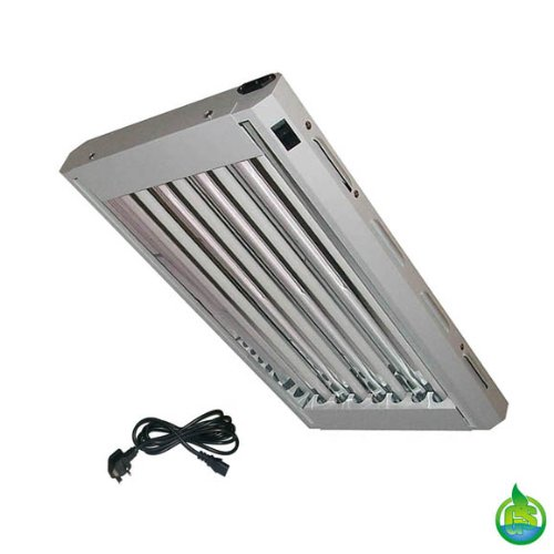 Lightwave T5 Hydroponic / Aquarium / Reptile Flourescent Lighting Unit. 2ft 4 Tube 96w 6, 600 Lumens. For Hydroponics, Agriculture, Indoor Gardening, Greenhouse Etc