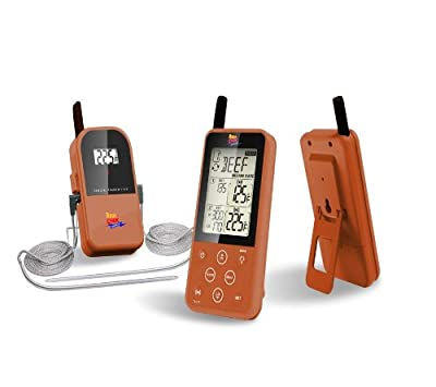 Maverick ET-733 Long Range Wireless Dual Probe BBQ Smoker Meat Thermometer Set - NEWEST VERSION With a Larger Display and added Features