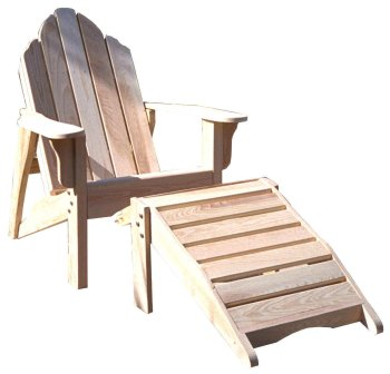 Adirondack Chair & Footstool Woodworking Paper Plan, Build Your Own!!!