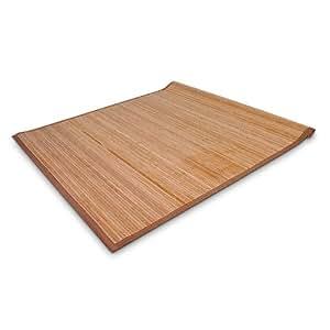 relaxdays bambusteppich teppich l ufer vorleger aus bambus 70x140 cm k che haushalt. Black Bedroom Furniture Sets. Home Design Ideas