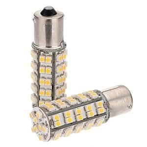 2x Ampoules 68 Led Blanc Chaud 1156 P21W R10w R5W Ba15S Arriere veilleuse Lampe