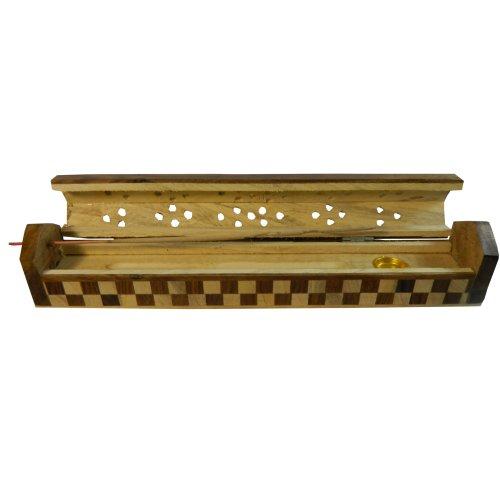 Porta inciensos tablero de ajedrez 25 cm madera