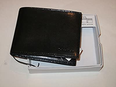 Calvin Klein Men's Leather Passcase Bifold Wallet-Black