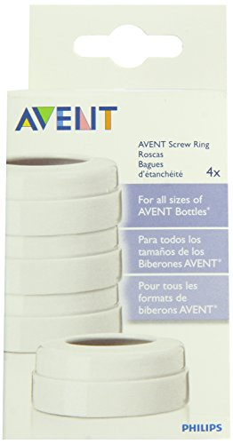 Philips AVENT BPA Free Classic Bottle Screw Rings, 4-Pack - 1