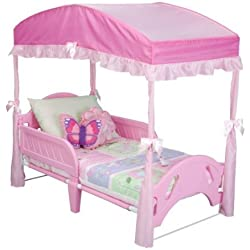 Delta Girls Toddler Bed Canopy, Pink