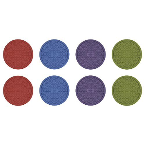 OXO Good Grips Coasters, Red, Purple, Green and Blue, Set of 8 (Red Coasters compare prices)
