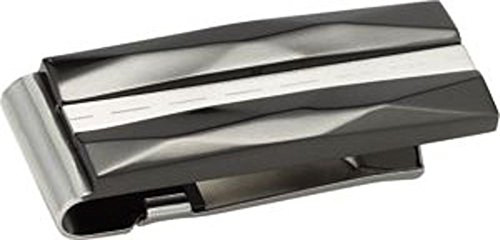 Stainless Steel & Titanium Money Clip With Black Immerse Plating
