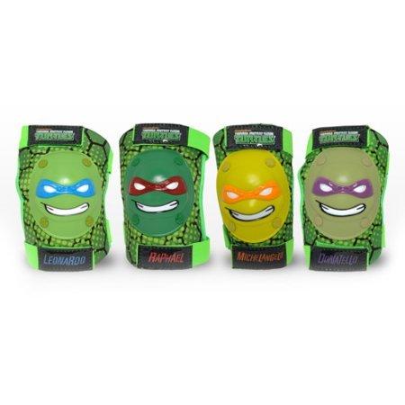 [3D Raskullz Nickelodeon Teenage Mutant Ninja Turtles Protective Knee and Elbow Pad Set for Kids] (Roller Skating Costumes)
