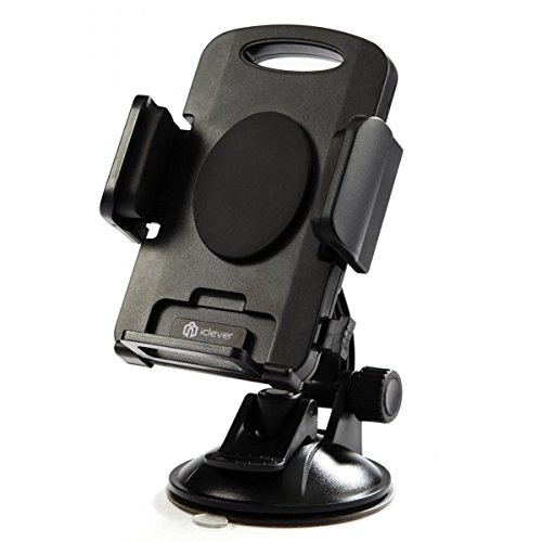 iClever Car Mount 360 Degree Rotation Universal Phone Holder, Windshield Dashboard Car Cradle