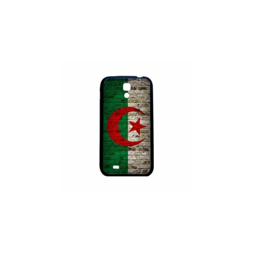 Algeria Brick Wall Flag Samsung Galaxy S4 Black Silcone Case   Provides Great Protection
