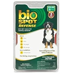 Bio Spot Active Care BioSPOT Spot On Defense Flea And Tick Control For Dogs 3 Months Supply EXTRA LARGE 81 Lbs and more