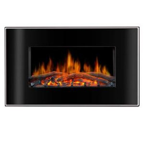 Lofty Valencia Bg03Cb Flat Face Wall Mount Electric Fireplace / Bg03Fb /