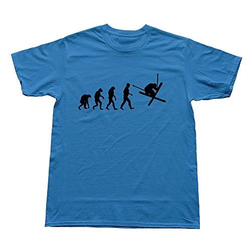 StaBe Boys Freestyle Snowboard Evolution T-Shirt Causal Vintage XL RoyalBlue