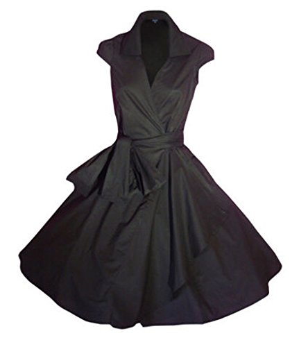 Rockabilly Kleid 1950er Retro Kurz Faltenrock Petticoat Cocktailkleid