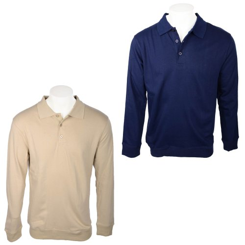Harbour Classic Men's 2 pack Navy & Beige Collared Sweatshirts Size Medium