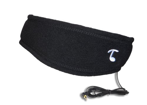 Tooks Sportec Band (Fleece) - Headphone Headband With Built-In Removable Headphones - Color: Black, Soft 100% Micro Fleece Keeps You Comfortable From Sports To Sleep, Unique Gift Idea