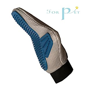 Dog&Cat Grooming Gloves - Pet Hair Removal Brush - Deshedding & Massaging Tool for Short & Long Hair - Gentle Grooming Mitts - Your Pet Will Love It