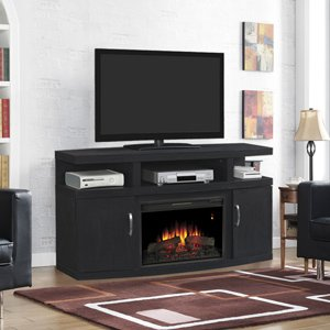 Classicflame Cantilever Electric Fireplace Media Cabinet In Embossing Oak - 26Mm5508-Nb04
