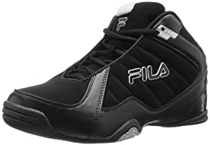 Fila Men's Leave It On The Court Basketball Shoe,Black/Black/Metallic Silver,8.5 M US
