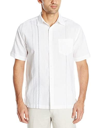 Cubavera Men's Short Sleeve Embroidered Pocket Shirt