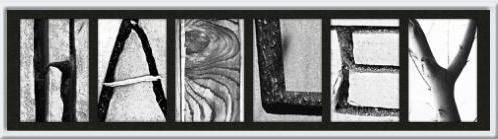 Alphabet Wall Letter Art -HARLEY- Framed Photo