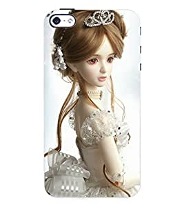 Fuson 3D Printed Cute Dolls Designer Back Case Cover for Apple iPhone 4S - D718