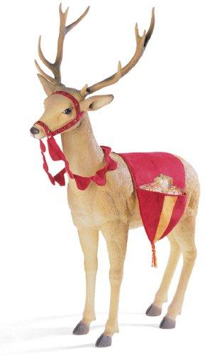 Giant Commercial Fiberglass Reindeer Head Up Christmas Decoration Display 6'