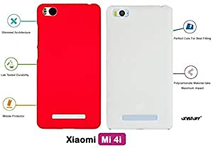 For Xiaomi Mi 4i[COMBO OFFER]: Unistuff™ Matte Finish Hard Case Back Cover for Xiaomi Mi 4i [SLIM FIT][FREE SHIPPING] (Red, White)