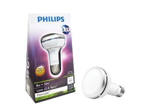 Philips 423400 8-Watt R20 Indoor Flood Led Light Bulb, Dimmable