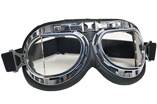 Mad-Max Nux Goggles Vintage Anti-dust Motorcycle Glasses Adjustable Strap 2