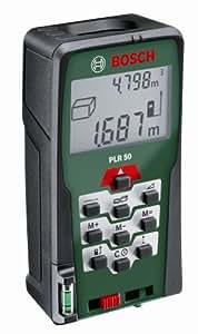 Bosch PLR 50 Laser-Entfernungsmesser + Schutztasche (0,05-50 m Messbereich, +/- 2 mm Messgenauigkeit)