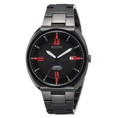 [リコー]RICOH 腕時計 シュルード・アンビション ソーラー充電式 10気圧防水 ブラック 697007-91 メンズ