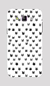 Back Cover for Samsung Galaxy A5 Abstract cat face 2