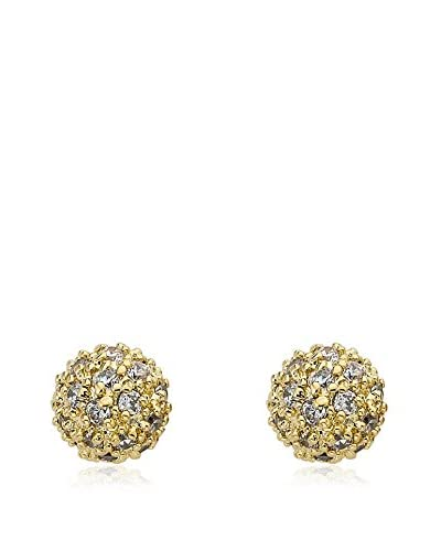 Riccova Retro CZ Pavé Ball Earrings, Gold