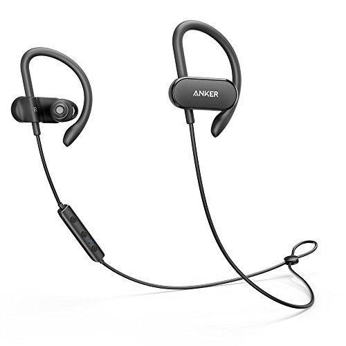 Anker SoundBuds Curve Wireless Headphones, Bluetooth 4.1 Sports Earphones, 14 Hour Battery, CVC Noise Cancellation - Black (Color: Black)