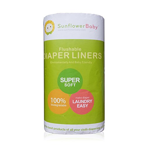 Sunflowerbaby 100-Piece Flushable Diaper Liners
