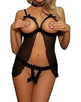 Sexy Lingerie / Robe de Nuit / Lingerie Nuisette Top+String Sexy Libre Taille S-M/Charme pour Femme Fille Soirée