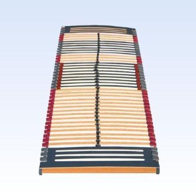 7 zonen lattenrost rhodos nv 44 leisten triokautschukkappen lattenroste mittelgurt 90 200 cm. Black Bedroom Furniture Sets. Home Design Ideas