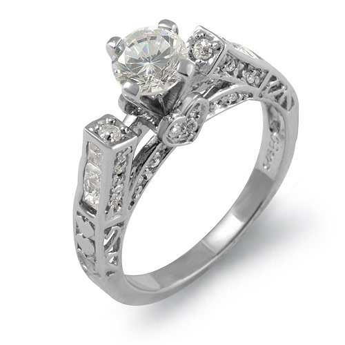 Solitaire Round Princess Cz Stone Anniversary Bridal Cubic Zirconia Ring 925 Sterling Silver Sz5