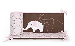 Carter\'s All Around Bumper, Pink Elephant (Discontinued by Manufacturer)