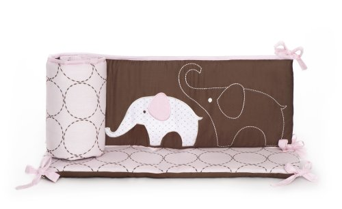 Carter's All Around Bumper, Pink Elephant (Discontinued by Manufacturer) - 1